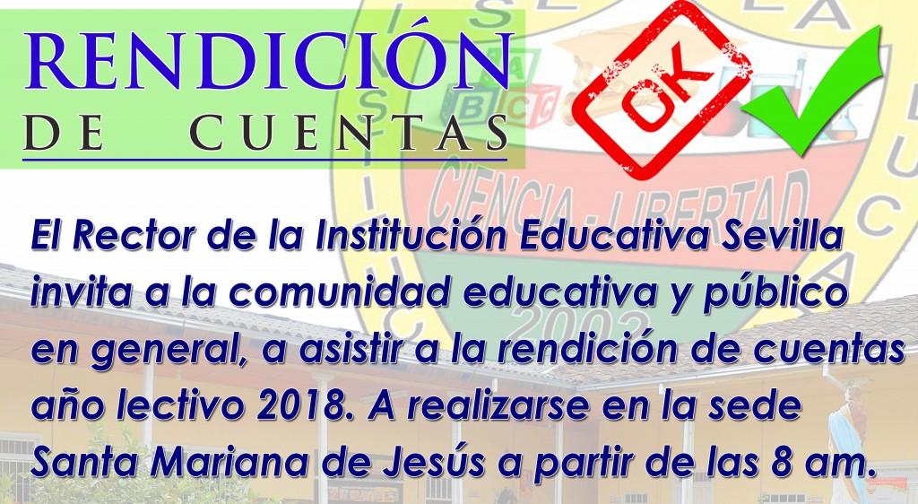 RENDICIÓN DE CUENTAS AÑO 2018